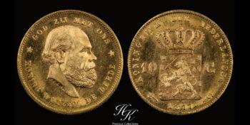 10 Gulden 1877 Willem III Netherlands