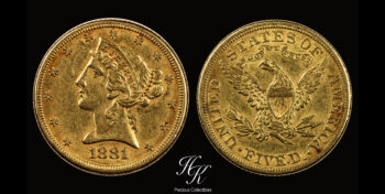 5 Dollars 1881 Liberty USA