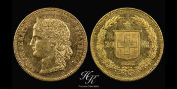 20 Francs 1895 B Switzerland