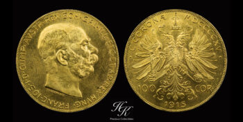 100 Corona 1915 Franz Joseph I Austria