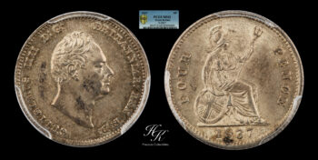 4 Pence 1837 William IV PCGS MS62 Great Britain