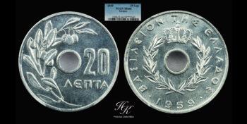20 Lepta 1959 Paul A PCGS MS66