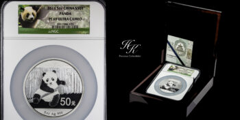 50 yuan 5 oz Fine Silver Proof Panda NGC PR69 Ultra Cameo – China
