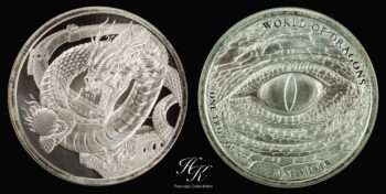 World of Dragons 1 oz pure silver