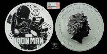 "1 dollar Elizabeth II ""IRON MAN"" 2018 NGC MS70 Tuvalu Australia"