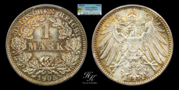1 Mark 1905 E PCGS MS67+ Germany