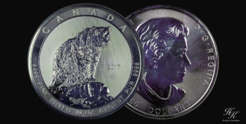 "50 dollars 10 oz silver coin ""GRIZZLY 2017"" Canada"