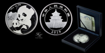 "50 yuan 2019 silver proof ""Panda"" China"