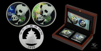 "10 Yuan 2019 ""Panda Night and Day Set"" China"
