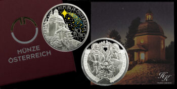 "20 euro 2018 Proof silver coin ""200th Anniversary of Silent Night"" Austria"