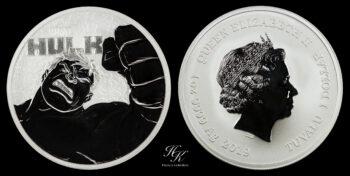 "1 Dollar 2018 Elizabeth II Tuvalu ""Hulk"" Australia"