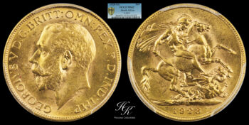 Sovereign George V PCGS MS62 South Africa