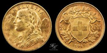 20 Francs 1947 Switzerland