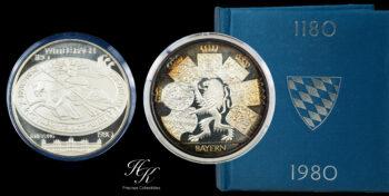 1980 Bayern Wittelsbach 1.1 oz Silver Medal Germany