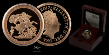 Piedfort (DOUBLE THICKNESS) Gold Proof Sovereign 2017 Great Britain