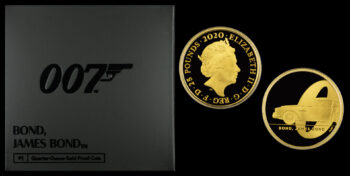 25 Pound (1/4 Oz) 2020 Proof gold  JAMES BOND 007 Coin (Series 1 – DB5) Great Britain