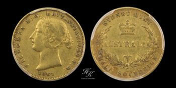 """1/2 Sovereign (half) 1861 SY """"Victoria"""" PCGS VF DETAILS CLEANED Australia"""