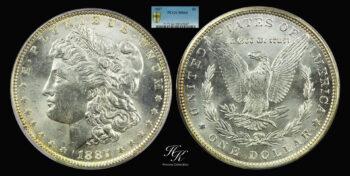 Morgan Dollar 1887 PCGS MS64 USA