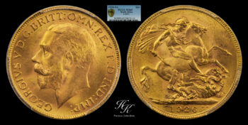 Sovereign 1926 PCGS MS65 South Africa
