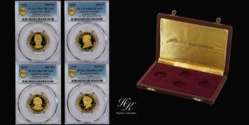 500 Pesetas Guineanas proof gold set of 1970 (PCGS GRADED) Guinea