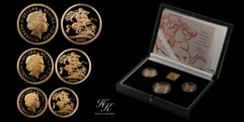 3 coin proof Gold Sovereign Set 2000  Great Britain