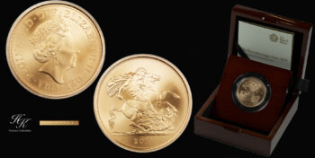 5 Pound 2019 Matte BU quintuple sovereign Elizabeth Great Britain