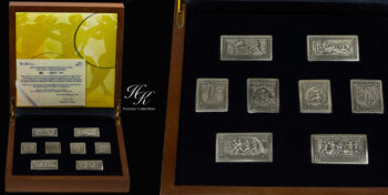 Silver Stamps from Greek Postal Office (Summer Olympics of 1906) Greece