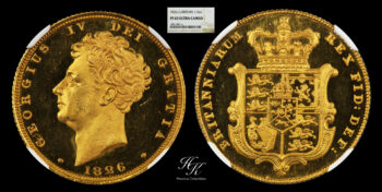 """Proof Sovereign 1826 (NGC PR63 ULTRA CAMEO) """"George IV"""" Great Britain"""