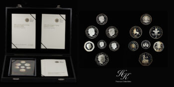 COINAGE EMBLEMS OF BRITAIN (SILVER PROOF COLLECTION) 2008 Great Britain