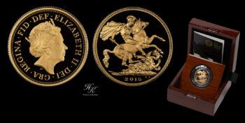 "Proof Sovereign 2015 ""Elizabeth 5th Portrait"" Great Britain"
