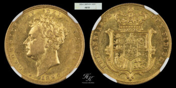Sovereign 1826 George IV NGC AU55 Great Britain