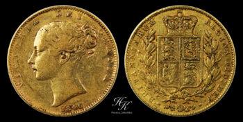 "Gold Sovereign (Shield) ""Victoria"" 1846 Great Britain"
