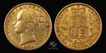 "Gold Sovereign (Shield) ""Victoria"" 1873 Great Britain"
