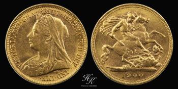 "Gold half sovereign (1/2) 1900 ""Victoria"" Great Britain"