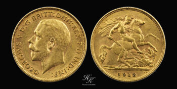 """Gold half sovereign (1/2) 1913 """"George V"""" Great Britain"""