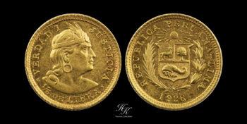 2 Soles (1/5 Libra) 1926 Peru