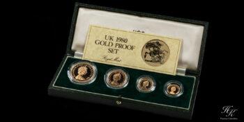 "Gold sovereign proof set 1980 ""Elizabeth II"" Great Britain"