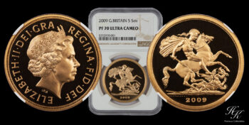 5 Pound 2009 Proof quintuple sovereign NGC PF70 ULTRA CAMEO Elizabeth Great Britain