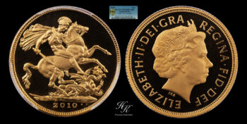 """Gold Proof Sovereign 2010 """"Elizabeth"""" NGC PF70 ULTRA CAMEO Great Britain"""