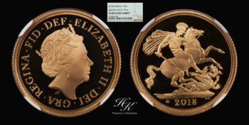 """Gold proof sovereign 2018 NGC PF68 ULTRA CAMEO """"Elizabeth"""" Great Britain"""