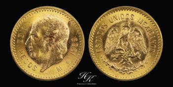 """10 pesos gold """"Hidalgo"""" Mexico"""