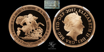 2 Pounds (DOUBLE GOLD SOVEREIGN) 2017 NGC PF70 ULTRA CAMEO Great Britain