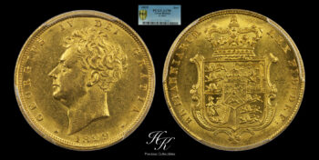Gold Sovereign 1829 George IV PCGS AU58 Great Britain