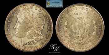 Silver Morgan dollar 1880 S PCGS MS66 USA