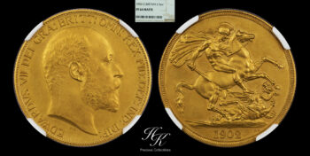 """2 Pound 1902 gold PROOF double sovereign NGC PF64 MATTE King """"Edward VII"""" Great Britain"""