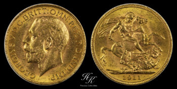 """Gold Sovereign 1911 """"George V"""" CANADA MINT"""