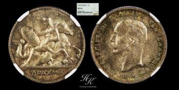 "Drachma 1910 ""George A"" NGC MS64 Greece"