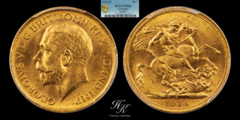 Gold Sovereign 1914 SYDNEY PCGS MS65 Australia