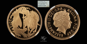 """Gold half sovereign 2012 """"Elizabeth"""" NGC pf70 ultra cameo Great Britain"""