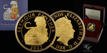 SEYMOUR PANTHER Royal Tudor Beasts 1 Oz Gold Coin 100£ Great Britain 2022